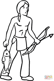 Click The Indian Got Some Fish Coloring Pages