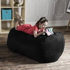 King Fuf Bean Bag Chair by Amazon Com Jaxx Sofa Saxx 4 Foot Bean Bag Lounger Black