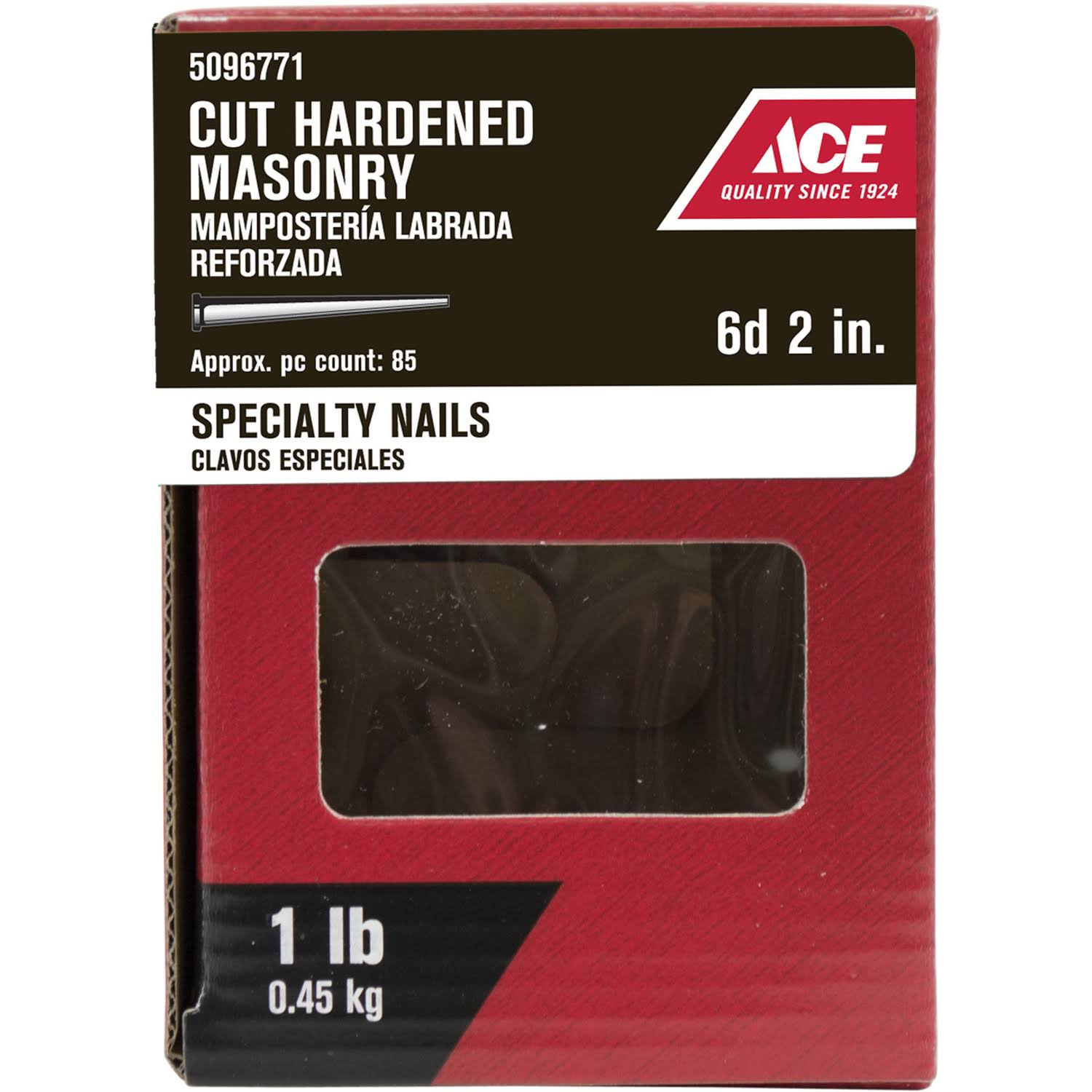 Ace 2 in. L Masonry Nail Tapered Bright 1 lb. 57851