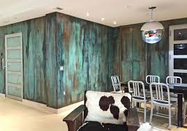 100 Walls By Design 21 Brilliant Turquoise DIY Room Decor Ideas Metal Copper Wall