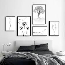 poster 6er set mit bilderrahmen natur bild vögel wald spruch