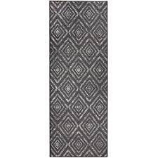 RUGGABLE Washable Stain Resistant Runner Rug Prism Dark Grey - 2'6