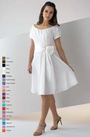 white a line bateau neck zipper knee length mother of bride