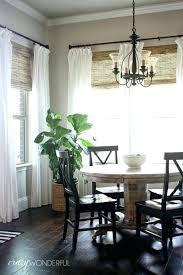 Dining Room Curtain Ideas White Farmhouse Curtains Modern For Best