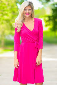 classic pink dress wrap dress business casual dress 36 00