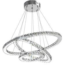 Antilisha Modern Crystal Chandelier Lighting Ceiling Dining Living Room Chandeliers Contemporary Led Light Fixtures Hanging 3