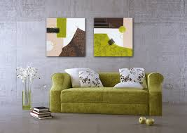 wandbild 58x58cm abstrakt braun weiß grün kunst
