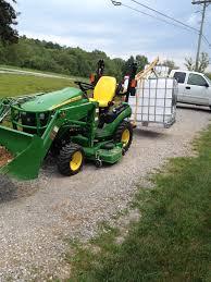 John Deere 1025r Mower Deck Adjustment by Brought My John Deere 1025r Home