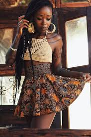Black Woman Wearing Skirt