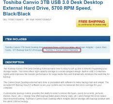 toshiba canvio desk 3tb usb 3 0 external hard drive for 82 99