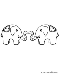 Love Elephants Coloring Page