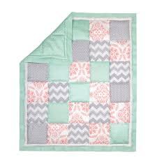 Mint Green Crib Bedding by The Peanut Shell 3 Piece Baby Crib Bedding Set Mint Green Coral