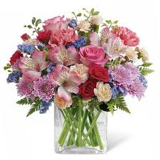 Happy birthday sister flowers with pink roses pink alstroemeria and cheap flowers