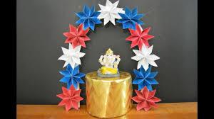 Varalakshmi Vratham Decoration Ideas by Ganpati Decoration Idea For Home Ganpati Makhar Eco Friendly Craft