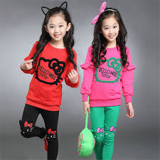 2016 New Autumn Fashion Junior Girls Clothing Sets