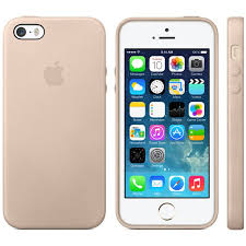 Apple iPhone 5S 5 Leather Case Beige