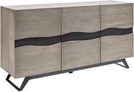 massives sideboard genesis grey 160cm akazienholz industrial design anrichte kommode wohnzimmerschrank