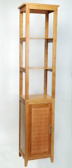 eisl badezimmer bambus schrankregal mit 3 fächern bambusfarbe 38 x 28 x 190 cm