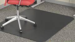 Chair Desk Floor Mat Plastic For Under Office Pvc Black