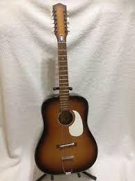 Egmond 12 String Acoustic Guitar Vintage Road Worn Right Left Handed
