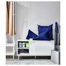 mackapär white bench with storage compartments ikea