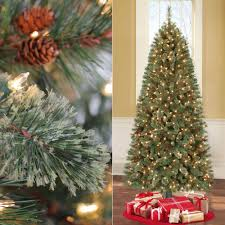 7ft PreLit Artificial Christmas Tree Electrical Rotating Stand 500 Clear Lights