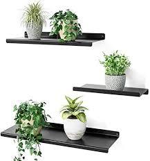 sriwatana schweberegal metall schwarz wandregal 3er set wandboard für wohnzimmer schlafzimmer flur badezimmer länge 43 33 23cm