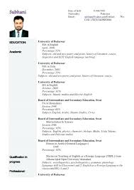 Resume Format For Lecturer Engineering College Template Assistant Professor