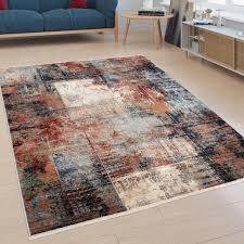 möbel wohnen designer teppich in bunt kurzflor teppich für
