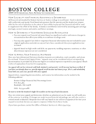 financial aid appeal letter sample