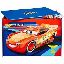 coffre à jouets personnalisé disney cars