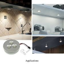 led cabinet puck lights 3w 12v cabinet recessed led puck light