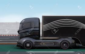 Side View Of Black Hybrid Truck Driving On Highway. 3D Rendering ... Top 5 Hybrid Work Trucks Greener Ideal Autonomous Truck On White Background Stock Photo Image Of Gm Cancels Future Hybrid Truck And Suv Models Roadshow Spied Ford F150 Plugin Praise For Walmarts Triple Pundit 8th Walton Pickup In The Works Aoevolution Toyota To Build The Auto Future End Joint Trucksuv Development Motor Trend Volvos New Mean Green Travel Blog