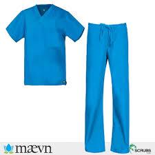 Ceil Blue Scrubs Sets by Maevn Uniforms Core Unisex Scrub Sets 1006 9006 In Malibu Blue