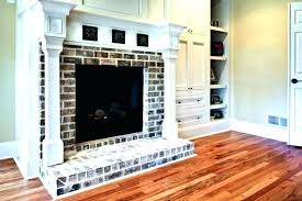 Brick Fireplace Mantels Red Ideas Image Of