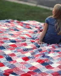 Fourth Of July Patchwork Quilt Just Scraps No Need For A Special Pattern