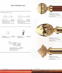 Decorative Traverse Rod With Clips by Empire Brass Curtain Rods Rings Finials U0026 Brackets Easy