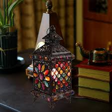 Bohemian Style Fashion Rustic Table Lamp Lantern Lamps Decoration Bedroom Free Shipping