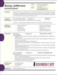 Resume Format For Executive Assistant Example Sample Administrative Accomplishments