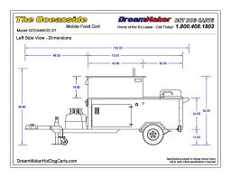 100 Food Truck Dimensions Oceanside Cart Drawings DreamMaker Hot Dog Carts