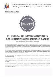 press bureau press release ph bureau of immigration nets 1 921 filipinos with