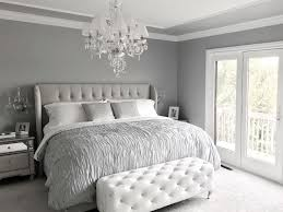 Glamorous Grey Bedroom Decor Tufted Headboard