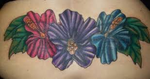 Coverup New School Hibiscus Tattoo