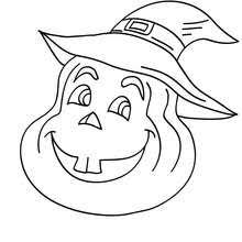 Plump Pumpkin Lovely Coloring Page