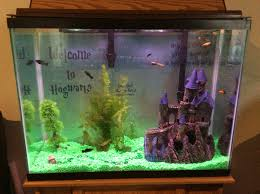Spongebob Aquarium Decorating Kit by Harry Potter Fish Tank Harry Potter Pinterest Fish Tanks