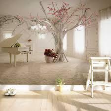 chambre arbre moderne piano branche d arbre photo papier peint salle à