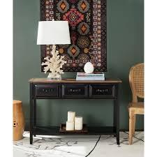 Safavieh Hartlepool Black Walnut Console Table