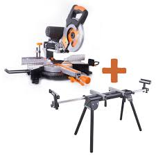 Ryobi Wet Tile Saw With Stand by Ryobi 15 Amp 10 In Sliding Miter Saw With Laser Tss102l The