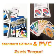 YYBF Juego De Cartas Transparente PVC Tarjeta Azul 2Set