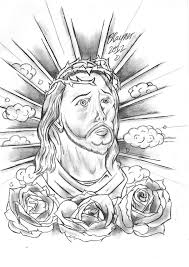 Religious Design I Drew A While Ago Not The Most Person Out There But Enjoyed Drawing This Piece Hope You Enjoy Jesus Tattoo